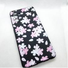 """Чехол накладка для Samsung Galaxy A32 с рисунком """"цветы"""""""