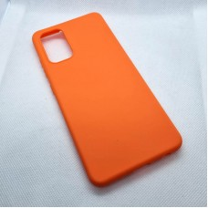 Чехол накладка Silicon Case для Samsung Galaxy A52, оранжевый