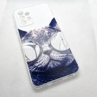 """Чехол накладка для Samsung Galaxy A52 с рисунком """"кот"""""""