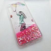 Чехол накладка для Huawei Y8P  пересыпашки зонтик