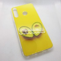 Чехол накладка для Huawei Y6P с рисунком желтый авокадо