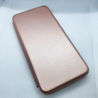 Чехол-книжка для Samsung Galaxy A12 без окна, розовое золото