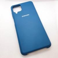 """Чехол  для Samsung Galaxy A12  """"Silicone Case"""",синий"""