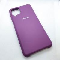 "Чехол  для Samsung Galaxy A12  ""Silicone Case"",фиолетовый"