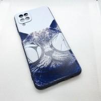 """Чехол накладка для Samsung Galaxy A12 с рисунком """"КОТ"""""""