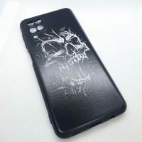 """Чехол накладка для Samsung Galaxy A12 с рисунком """"череп"""""""