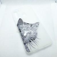 """Чехол накладка для Samsung Galaxy A21 с рисунком """"КОТ"""""""