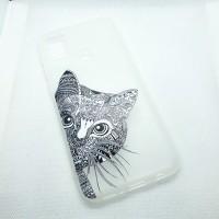 "Чехол накладка для Samsung Galaxy M21 с рисунком ""кот"""