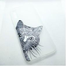 Чехол накладка для Huawei Y8P  с рисунком кот