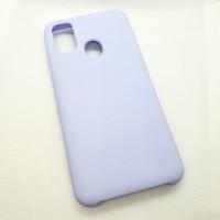 Силиконовый чехол Silicon case для Samsung Galaxy M21 сиреневый