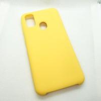 Силиконовый чехол Silicon case для Samsung Galaxy M21 желтый