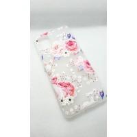 """Чехол накладка для Samsung Galaxy A31 с рисунком """"цветы"""""""