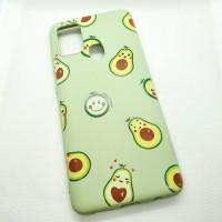 Силиконовый чехол-накладка для Samsung Galaxy A21s с рисунком авокадо