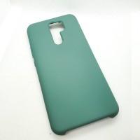 Чехол Silicone case для Xiaomi Redmi 9, зеленый
