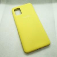 Силиконовый чехол Silicon case для Samsung Galaxy A31 желтый