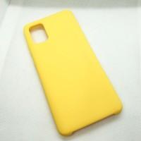Силиконовый чехол Silicon case для Samsung Galaxy A31 желтый насыщенный