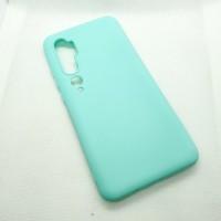 Чехол Silicone case для Xiaomi Mi Note 10 , голубой