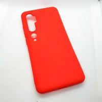 Чехол Silicone case для Xiaomi Mi Note 10 , красный