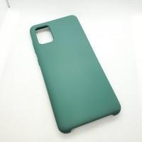 Силиконовый чехол Silicon case для Samsung Galaxy A31 зеленый