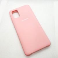 Силиконовый чехол Silicon case для Samsung Galaxy A31 розовый
