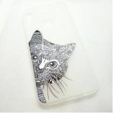 Чехол накладка для Huawei Y7P с рисунком кот