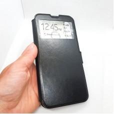 Чехол-книга EXPERTS для Huawei y7p, черный с окошком
