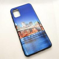 """Чехол накладка для Samsung Galaxy A41 с рисунком """"город"""""""