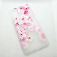 """Чехол накладка для Samsung Galaxy A41 с рисунком """"цветы"""""""