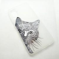 """Чехол накладка для Samsung Galaxy A41 с рисунком """"кот"""""""