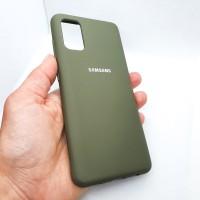 Силиконовый чехол Silicon case для Samsung Galaxy A41 хаки