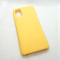Силиконовый чехол Silicon case для Samsung Galaxy A41 желтый