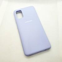 Силиконовый чехол Silicon case для Samsung Galaxy A41 лавандовый