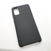 Силиконовый чехол Silicon case для Samsung Galaxy A41 черный