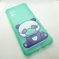"""Чехол накладка для Samsung Galaxy A02S с рисунком """"Панда в маске"""""""