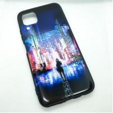 Чехол накладка для Huawei P40 Lite (Nova 6s) с рисунком город