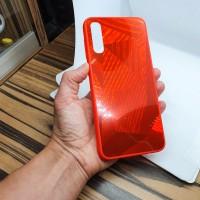 Чехол накладка для Samsung Galaxy A50 Krystal красный