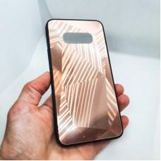 Чехол накладка для Samsung Galaxy S10e  Krystal розовое золото
