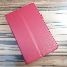 Чехол для планшета Lenovo Tab M8 8505, красный экокожа