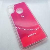 Силиконовый чехол  для Samsung Galaxy A11s Neon sand розовый