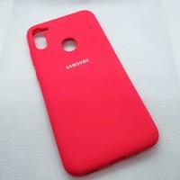 Чехол  для Samsung Galaxy A11s silicon case ярко розовый