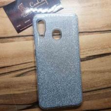 """Силиконовый чехол EXPERTS """"DIAMOND"""" Samsung Galaxy A30, серебристый"""