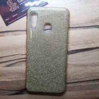 """Силиконовый чехол EXPERTS """"DIAMOND"""" Samsung Galaxy A30, золотой"""