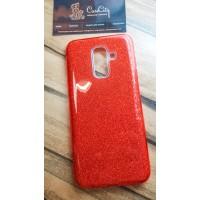"""Силиконовый чехол EXPERTS """"DIAMOND """" для Samsung Galaxy A6+ (2018), красный"""