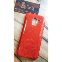 """Силиконовый чехол EXPERTS """"DIAMOND """" для Samsung Galaxy J6 J600, красный"""