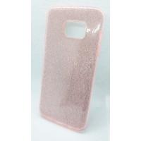 """Силиконовый чехол EXPERTS """"DIAMOND """" для Samsung Galaxy S7 edge, розовый"""