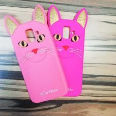 """Резиновые чехлы """"Котик"""" для Samsung Galaxy J6 Plus"""