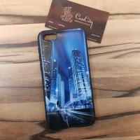 Чехол накладка для Samsung Galaxy J7 (2017) J730FM/DS с рисунком Вечерний сити