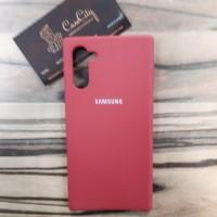 Силиконовый чехол  Silicon case для Samsung Galaxy Note10 N970 красный