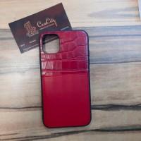 Кожаный чехол для Apple iPhone 11,красный
