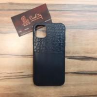 Кожаный чехол для Apple iPhone 11, чёрный